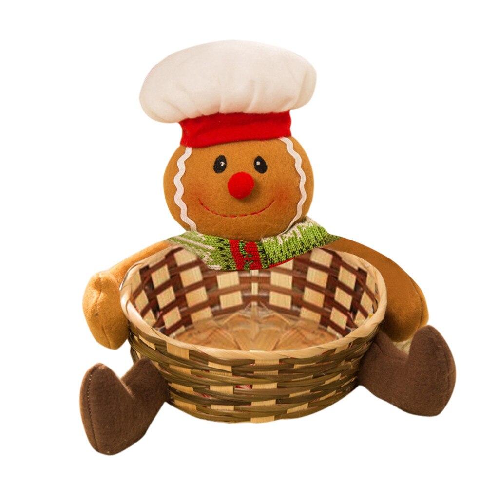 Рождественская корзина для хранения конфет украшение корзина для хранения Санта Клауса Подарок Рождественское украшение Рождественская корзина для хранения конфет - Цвет: A