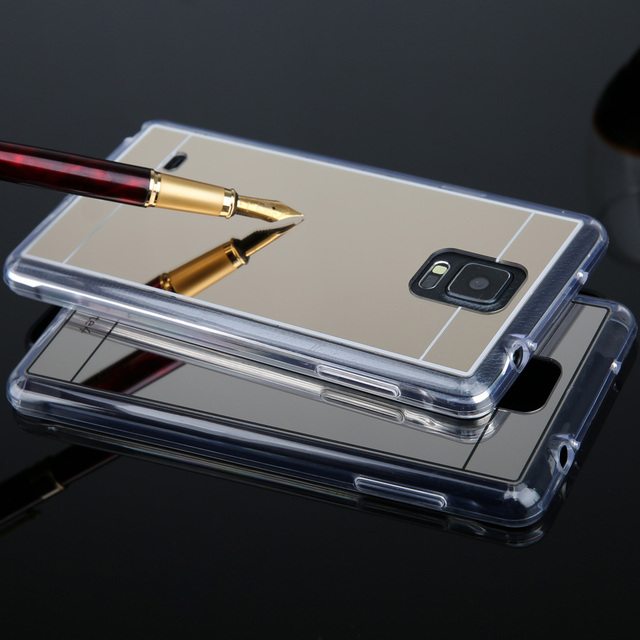 online store 80acc d1558 US $1.99 |Crystal Clear edge Mirror TPU Soft Gel jelly Case Back Cover Skin  For Samsung galaxy S4 S5 S6 S6 edge note 3 note 4 on Aliexpress.com | ...