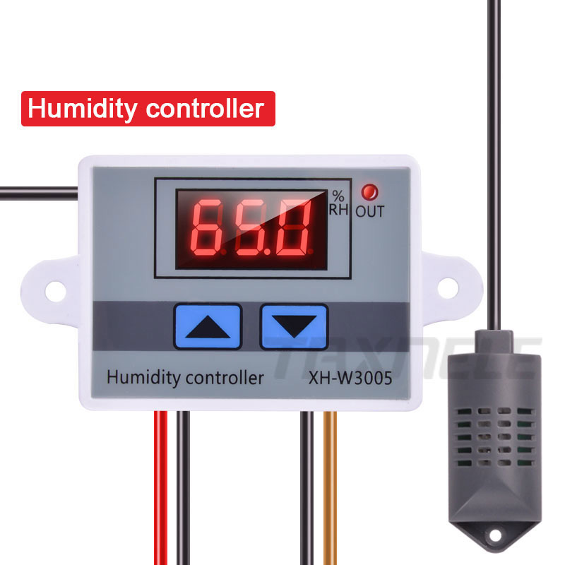 Digital Humidity Controller XH-W3005 12V 24V 220V Humidistat Hygrometer Humidity Control Switch Regulator + Humidity Sensor