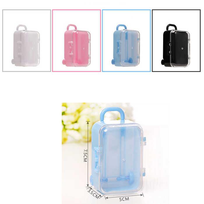 Kotak Permen Tas Cokelat Hadiah Traveling Case untuk Ulang Tahun Pesta Pernikahan Dekorasi Kerajinan DIY Souvenir Baby Shower WH