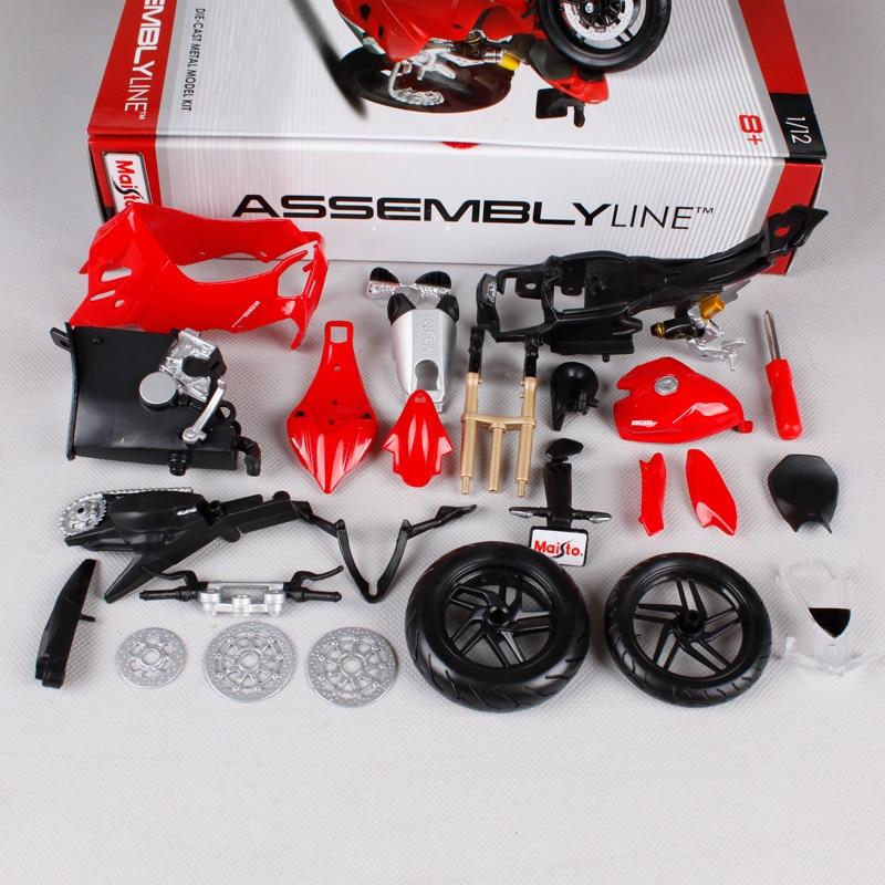 Maisto 1:12 Ducati 1199 PANIGALE жиынтығы DIY MOTORCYCLE BIKE - Дизайнерлер мен құрылыс ойыншықтары - фото 4