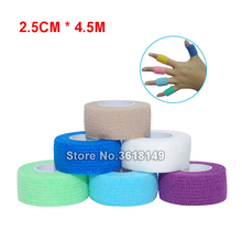 5Pcs 5CM/2.5CM Self Adhesive Bandage Tattoo Tape for Medical Wrap Finger Ankle Elbow Elestic Protection Barrier Grip