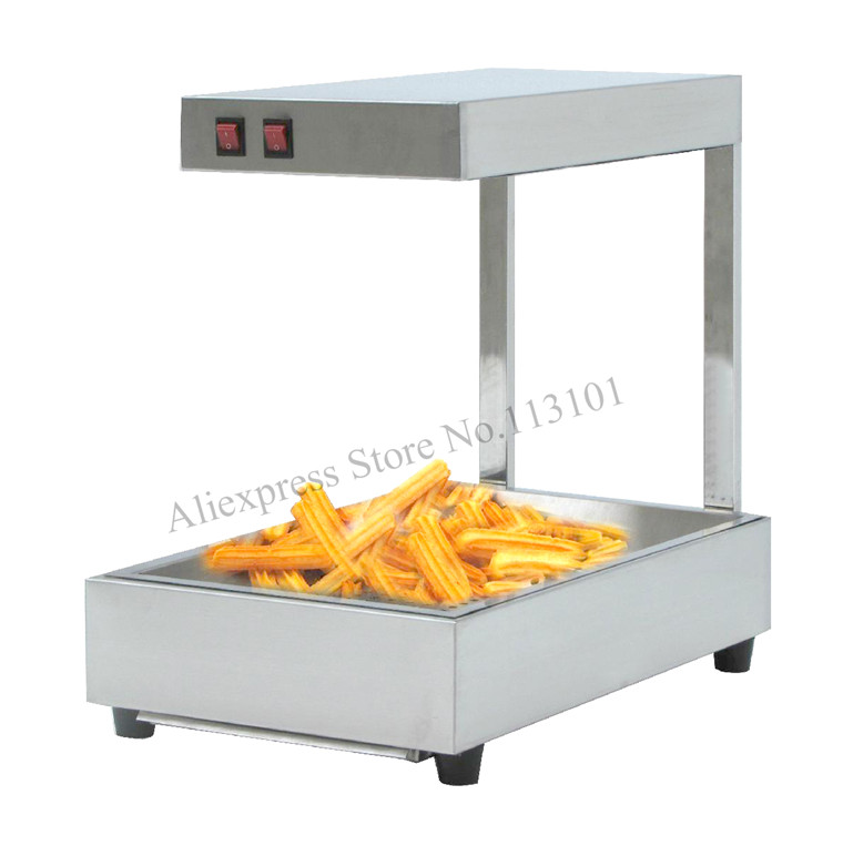 Churro display warmer deluxe stainless steel churro showcase machine with heat food warmer and oil filter tray churro display warmer deluxe stainless steel churro showcase machine with heat food warmer and oil filter tray
