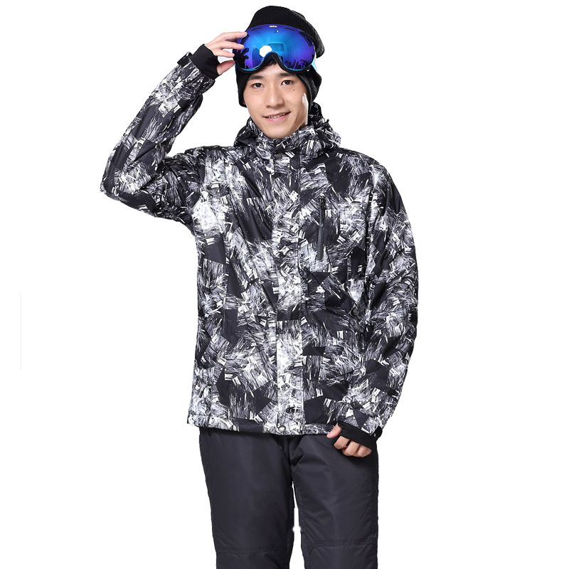 New Outdoor Sports Men Ski Jackets Windproof Waterproof Thermal Snowboard Snow Skiing Hooded Coat Skiwear Ice Skating Clothes pink ski helmets cover motorcycle skiing helmets best outdoor safety helmet for skiing snowboard skating adult men women