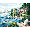 1Set DIY Digital Canvas Oil Painting Handpainted Abstract Art By Numbers Home Wall Decoration Port Seaside