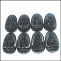 1 set 8pcs obsidian stone pendants buddha pendants carving jewelry pendants fashion selling for prayer items