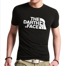 New 2016 Summer Fashion Star Wars The Darth face Vader T Shirt Men T shirts Distinct