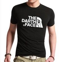 New 2016 Summer Fashion Star Wars The Darth face Vader T Shirt Men T-shirts Distinct Mans Tshirt Short Sleeved Tops Tees
