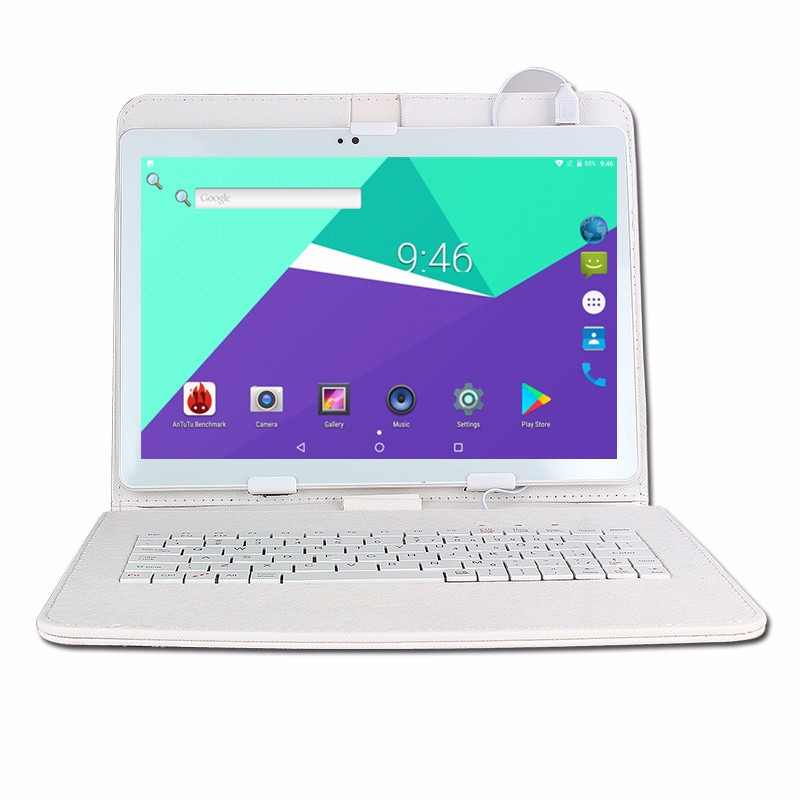 10 inch Octa Core 3G/4G Tablet pc 4GB RAM 64GB ROM 1920*1200 Dual Cameras Android 7.0 Tablets 10.1 inch keyboard Free Shipping