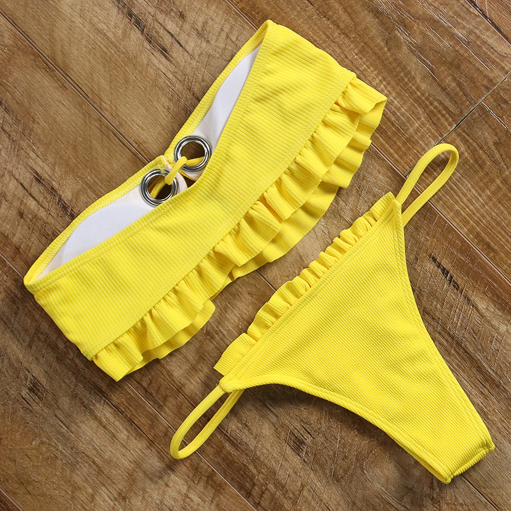Ruffle bandeau bikini 12