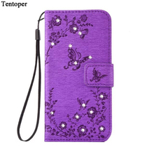 Glitter Diamond Butterfly Leather Case For Samsung Galaxy S8 S8 Plus S7 S7Edge J3 J5 A3 A5 2016 A320 A520 J320 2017 Wallet Cover