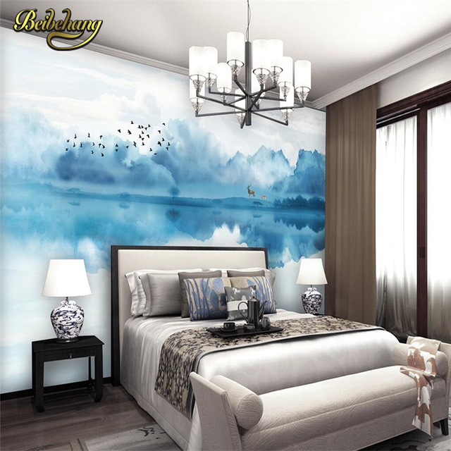 Beibehang Abstract Ink Landscape Custom Wallpaper 3D Painting Abstract Art  Wall Mural Living Room Bedroom Wall