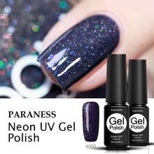 Paraness 7ml Neon Glitter Color Gel Nail Polish UV LED Lamp Shining Hybrid Nail Lacquer Enamel Lucky Gel Paint Varnish Manicure catuness latest new shiny neon lamp uv lucky gel polish diy nail art set candy color gel shining glitter lacquer paint varnish