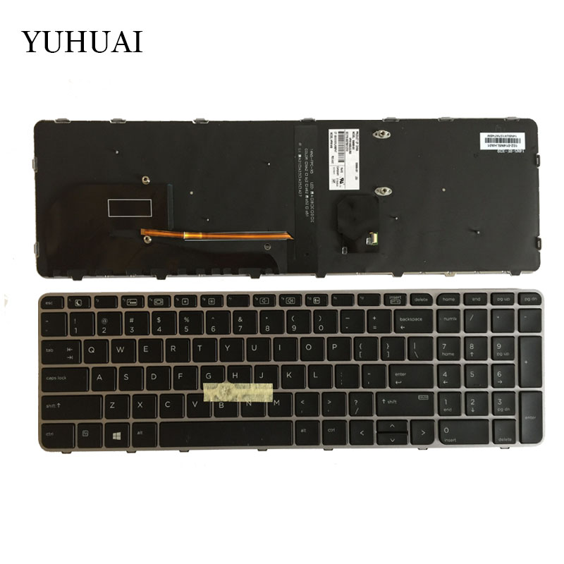 New For HP EliteBook 850 G3 ZBook 15u G3 US Backlit laptop keyboard original laptop batteries for zo04xl hstnn cs8c zbook studio g3 v8n23pa