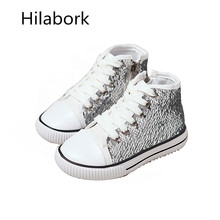 Children's shoes girls sequins children's high-top sports shoes 2017 spring and autumn new children's casual shoes for children