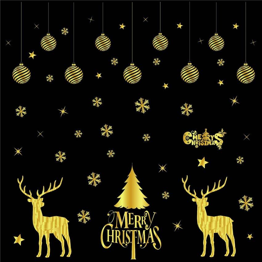 Diamond Festival Party Supplies Christmas Wall Decoration Snowflake Santa Claus Sled Xmas Ornament New Year Pendant Good Taste