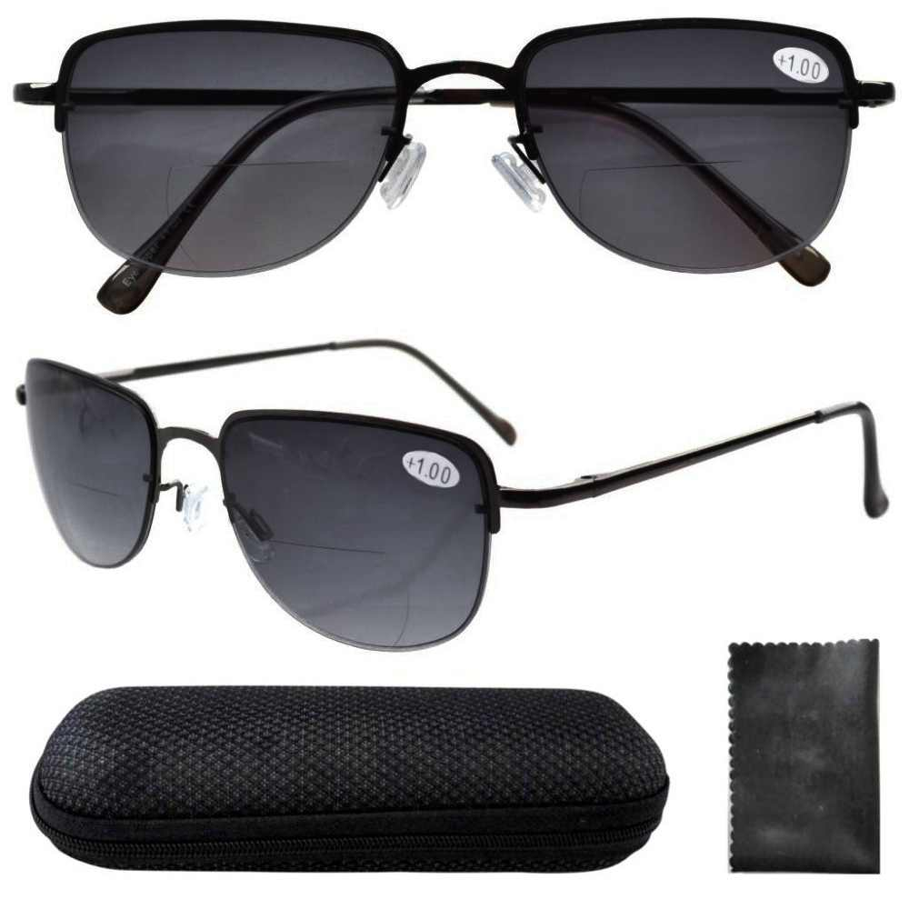 80ee12ed2713 Detail Feedback Questions about R1506 Grey Lens Eyekepper Spring Hinges  Polycarbonate Lens Half rim Bifocal Glasses Sun Readers W/case ...