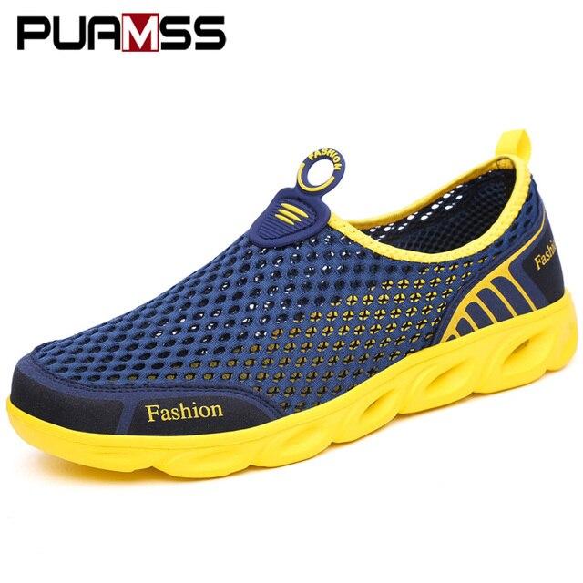 Männer Casual Schuhe Turnschuhe Mode Licht Atmungsaktive Sommer Sandalen Outdoor Strand Urlaub Mesh Schuhe Zapatos De Hombre Männer Schuhe