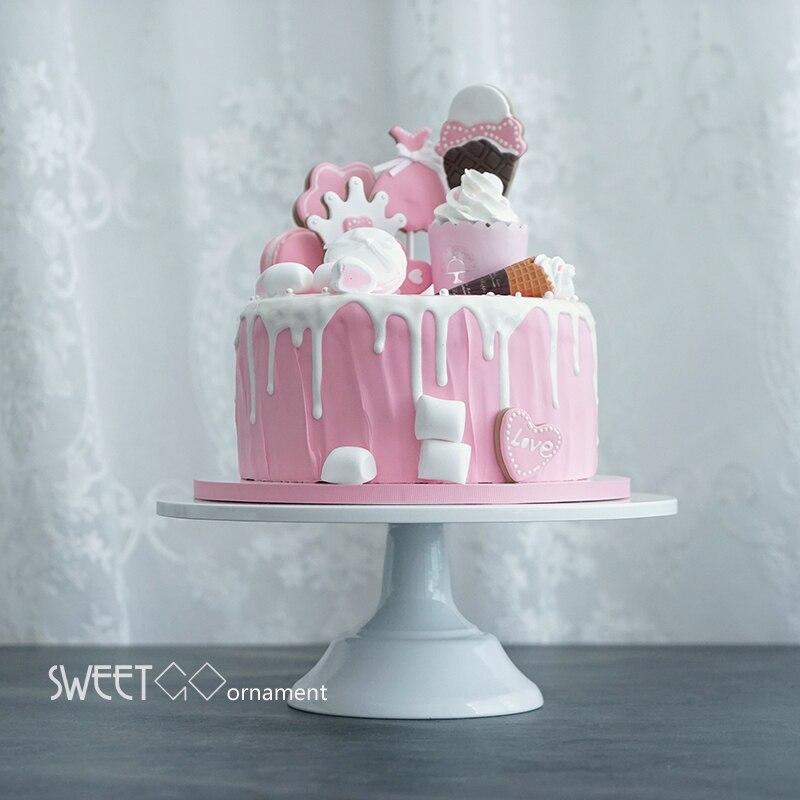 Europe luxueux 12 pouces gâteau stand blanc gâteau de mariage outils fondant cuisson gâteau décoration fournitures dessert table pops DGJ002