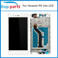5Pcs 100% Original LCD Display For HUAWEI P9 Lite +Frame Touch Screen for HUAWEI P9 Lite LCD Display Digitizer with Frame
