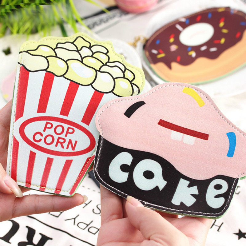 New Cute Funny Ice Cream Purse Students Kids Children Purse Hamburgers Cakes Pop Corn Pizza Donuts Key Coin Bag ice cream design purse bag