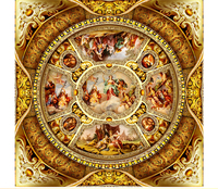 Customize Any Size 3D HD Interior Decoration Large Luxury Palace European Court Fairy Feminine Zenith Silk Painting Wallpaper