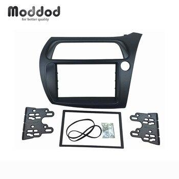 Doppel Din Radio Fascia RHD für Honda Civic 2006-2012 DVD Stereo CD Panel Dash Montage Installation Trim Kit gesicht Rahmen Lünette