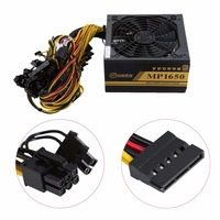 1600W Modular Power Supply For Mining Miner Machine 6 GPU Eth Rig Ethereum Coin With Low