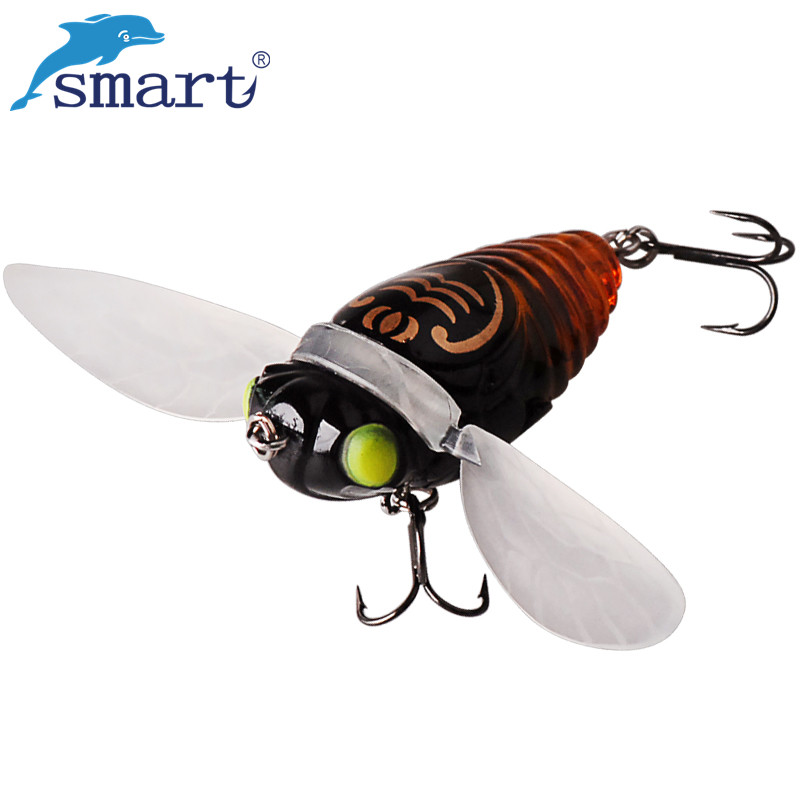SMART Cicada Fishing Lures 40mm 6.1g VMC Hook Hard Lure Isca Artificial Bait Para Pesca Leurre Souple Peche Japan 1pcs big popper bait hard fishing lure 12cm 42g vmc treble hook artificial bait surface water peche pesca wobber leurre