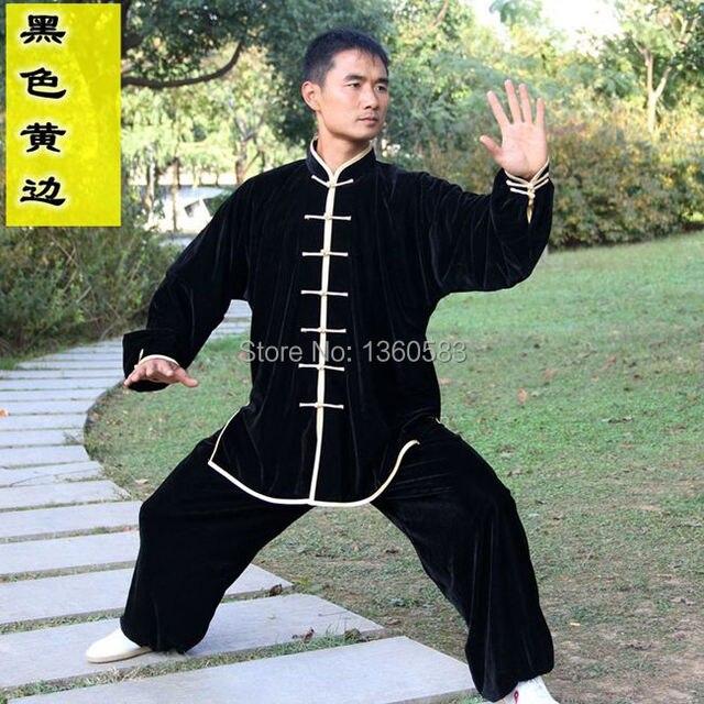 Китайский Pleuche утолщаются кунг-фу тайцзи костюм тай-чи равномерное единоборства производительность одежда женщин людей утренней зарядки костюмы