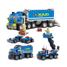 KAIZI City Dumper Truck DIY Building Blocks Creator Bricks Playmobil Educational Toys for Children