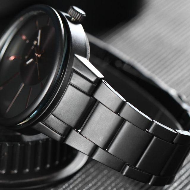 Zegarek męski AMUDA minimalistyczny elegancki casualowy czarny kolor