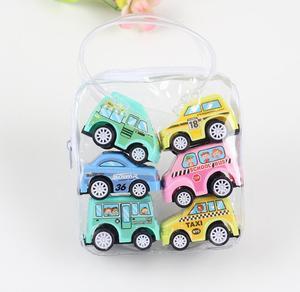 Image 5 - 6/12個プルバックカーのおもちゃレーシングカーベビーミニ消防車漫画のプルバックバストラックの子供たちおもちゃ子供のボーイギフト用wyq