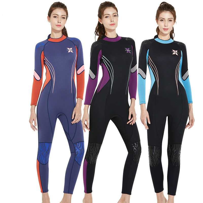 3MM Long Sleeve Diving Suit Women Neoprene Wetsuits Surf Diving Equipment Anti-Jellyfish Spearfishing Wetsuit Warm Clothing J spearfishing wetsuit 3mm neoprene scuba diving suit snorkeling suit triathlon waterproof keep warm anti uv fishing surf wetsuits