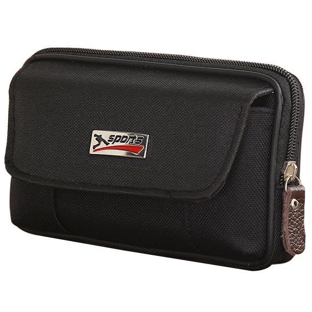 Men Fanny Pack For Mobile Phone Male Grey Black Coffee Canvas Zipper Coin Purse Burse Bags Casual Waist Pack Man Bag Purses