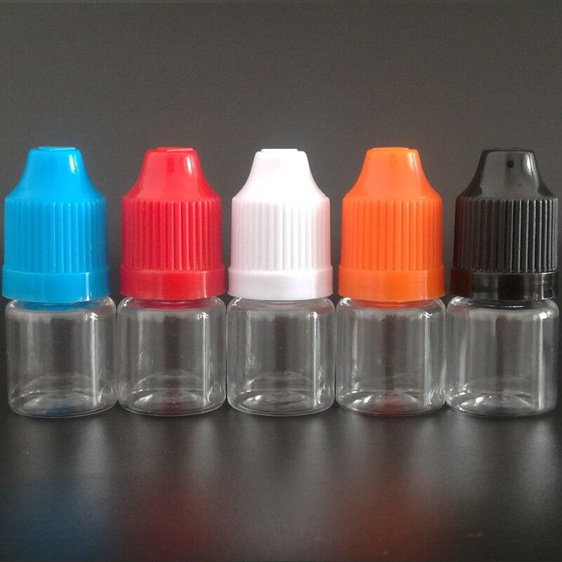 Güzellik ve Sağlık'ten Doldurulabilir Şişeler'de 500 adet 3 ml PET Plastik damlalık şişeler Küçük Şeffaf Doldurulabilir Şişeler 3 ml Boş E Sıvı Şişe Ile Çocuk Geçirmez kapaklar'da  Grup 1