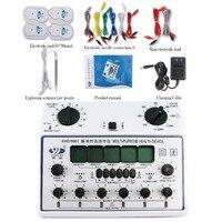 Универсальный 6 выходов десятки импульсной Акупунктурной Терапии Электрический массажер прибор для похудения EMS нерва мышц стимулятор с 4 к