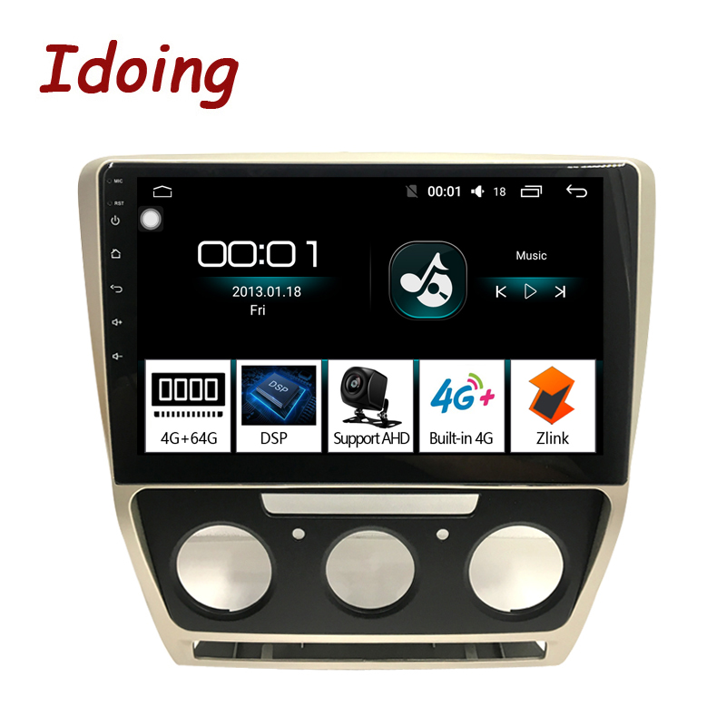 Idoing 10 2 1Din 2 5D Car Android 8 1 Radio Multimedia Player Fit Skoda Octavia
