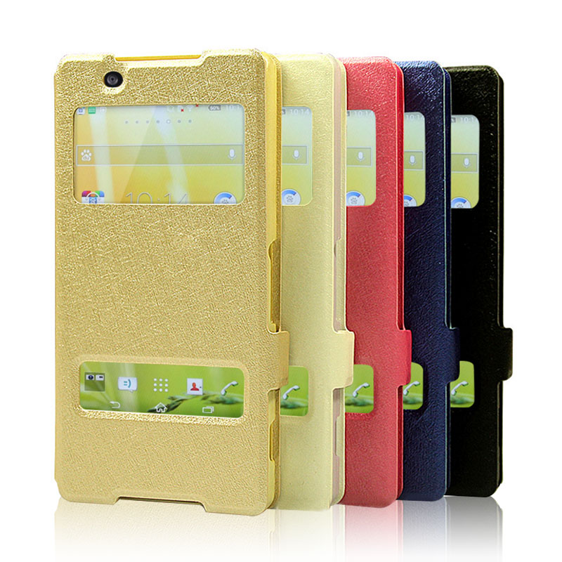 For Sony Xperia XA1 Case Quick Answer View Window Flip Silk PU Leather CaseFor Sony XA1 G3121 G3112 G3123 5.0 XA1 Phone Cases