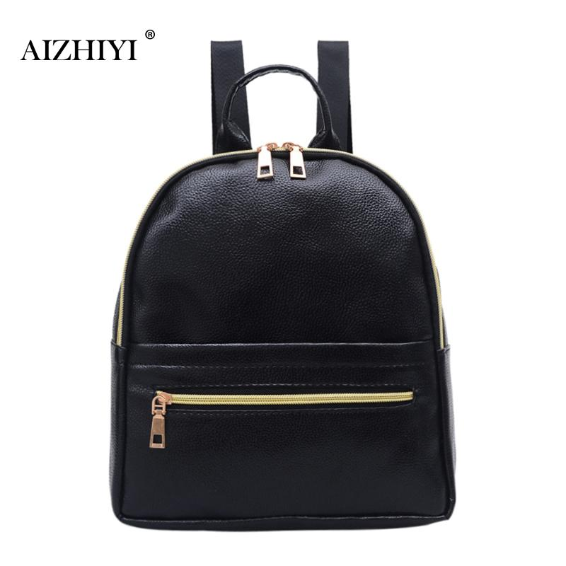 Fashion Rotro Backpack Women PU Leather Bag Women Zipper Bag Small Women Backpack Mochila Feminina School Bags for Teenagers weave backpack women genuine leather bag women bag cow leather women backpack mochila feminina school bags for teenagers li 1390