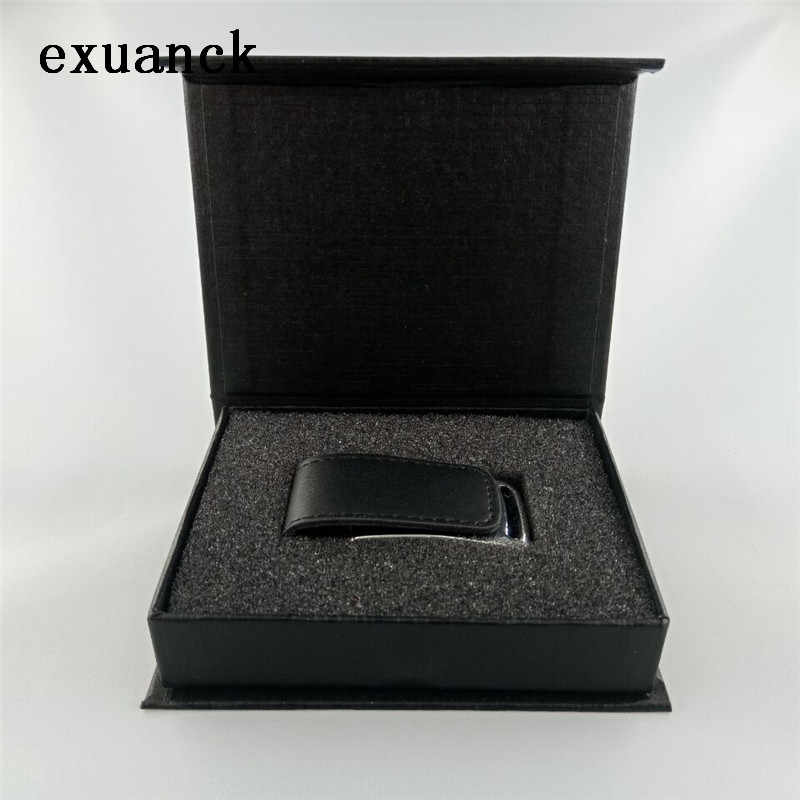 Exuanck Personaliza Logotipo de Couro Unidade Flash USB 2.0 4 gb 8 gb 16 gb 32 gb Memory Stick de Fotografia de Casamento presente (40 pcs logotipo livre)