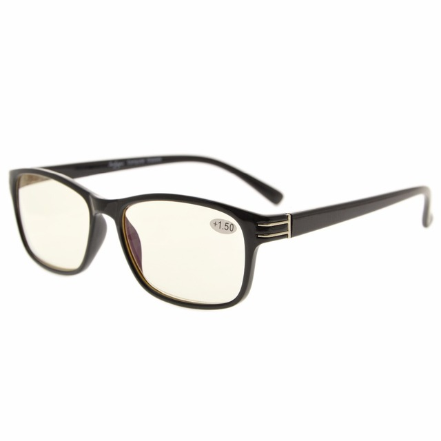 aee8c862d6d5 CG056 Eyekepper UV Protection, Anti Glare,Anti Blue Rays Computer Reading  Glasses Computer Eyeglasses Readers Yellow Lens