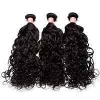 Волна воды Человеческие волосы Комплект s 3 Комплект предложения мокрые волнистые бразильские волосы ткань Комплект S Необработанные Девы в