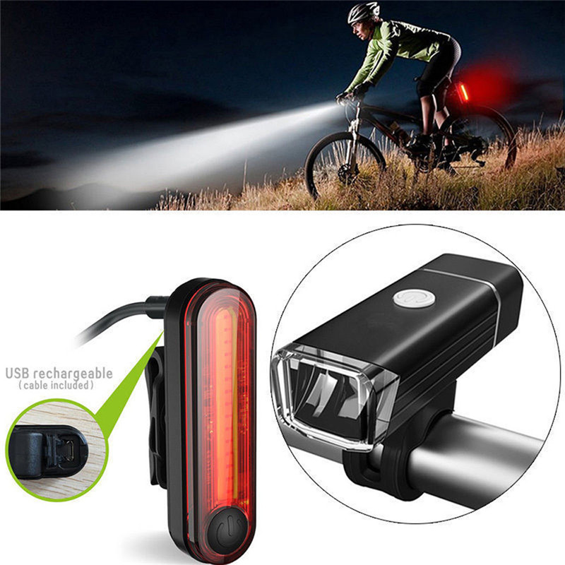 Bike Bicycle Lights USB 4 Modes Waterproof LED Rechargeable Set Mountain Cycle Front Back Headlight Light For Bicycle A1 mountain bike four perlin disc hubs 32 holes high quality lightweight flexible rotation bicycle hubs bzh002