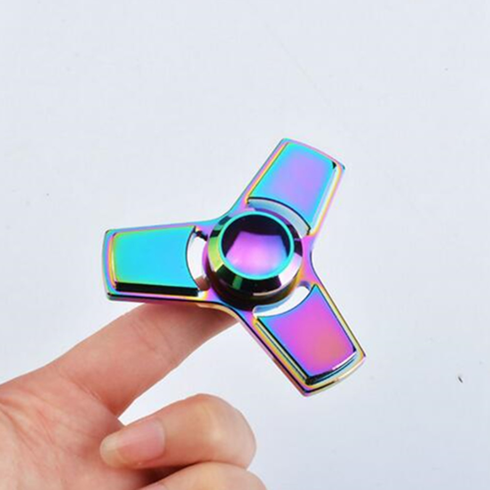 2017 Hot Sale Triangle Spinner Metal Three Leaves Anti stress Relax Hand Spinners Fidget Toys Fingertips