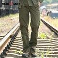 Бренд мужской Случайные Штаны Брюки Плюс Размер 44 Мужчины Спортивные Штаны Военные Армия Зеленый Бегун Мужские Капри Брюки Полная Длина Mk-711