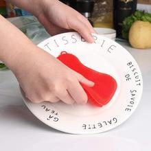 سيليكون غسل الصحون المطبخ جهاز غسيل إسفنجي سيليكون غسل فرشاة لينة اكسسوارات المطبخ وعاء وعاء عموم غسول التنظيف أداة