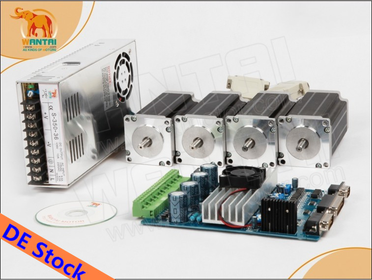 EU &USA Free ship!Wantai 4Axis Nema23 Stepper Motor 57BYGH627 270oz-in 4 leads+4 Axis Driver Board TB6560 CNC Router Milling  цена и фото