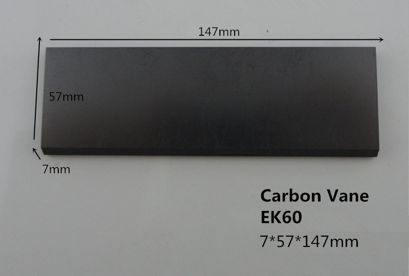 7*57*147mm carbon vane for Vacuum Pumps    / Graphite Vanes carbon plate for vane pump 6 48 230 mm carbon vane for vacuum pump graphite plate block for vacuum pump becker