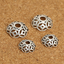 Vintage 925 Silver Beads Caps Jewelry DIY Bead Cap Sterling Silver Jewelry Accessories Good Luck Symbol Bead Cap